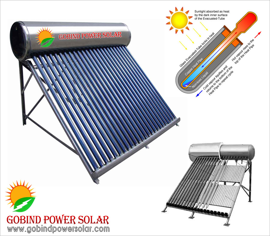 solar water heater Evacuated Tube Collector (ETC) suppliers in ludhiana punjab